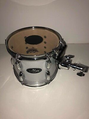 """FLOOR STOCK Pearl Vision 10"""" Birch Tom with Arm - Silver Sparkle Drum - CS Head"""
