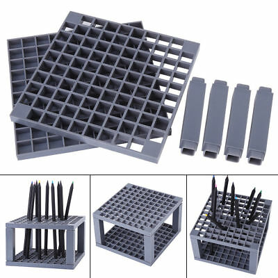 Paint Brush Holder Brush Organizer 96Holes Plastic Artist Pencil Pen Brush Stand