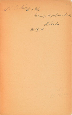Volume from Niels Bohr's Library - w/ Ownership Signature & Author Inscription