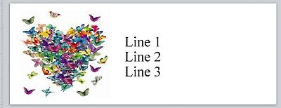 Personalized Address Labels Heart of butterflies Buy 3 get 1 free (bx 831)