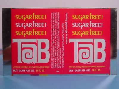 TAB SUGAR FREE - Coca-Cola -Madisonville, Ky- UNROLLED 12 oz PROTOTYPE CAN SHEET