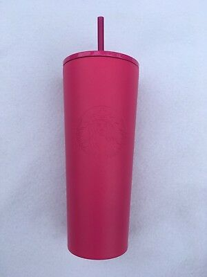 NEW 2018 STARBUCKS COLD CUP PINK STAINLESS STEEL TUMBLER 24 fl oz