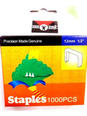 Heavy Duty Staples 1000pcs 12mm 1/2 For Staple Gun