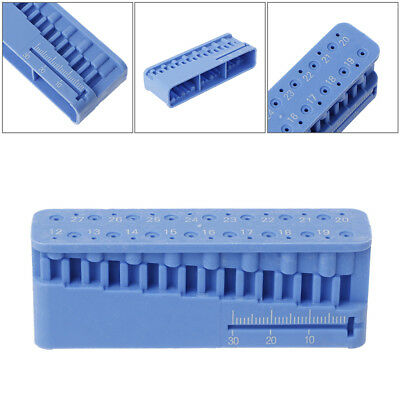Dental Endo Measuring Block Endodontic File Holder Ruler Autoclavable ALAN