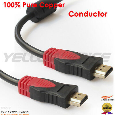 NEW Premium 6ft HDMI Cable 1080P HD Gold Plated 3D High Speed 4K Audio Ethernet