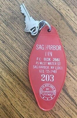 Vintage Sag Harbor Inn Room Key Hotel Key  Sag Harbor Ny