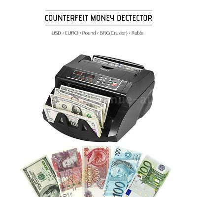 Aibecy Banknote Counter Currency Detector Automatic Cash Money Bill Machine LCD
