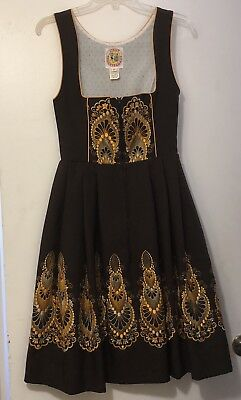 Authentic Vintage German Dirndle Dress Licht Trachten Haus Oktoberfest