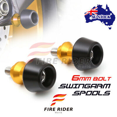 For Yamaha YZF R1 S R1M 15-16 15 16 6MM CNC Gold Swingarm Spools Set