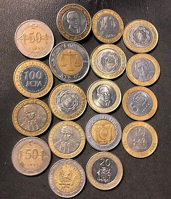 Old World Bi-Metal Coin Lot - 16 Assorted Coins - Great Group - Lot #616