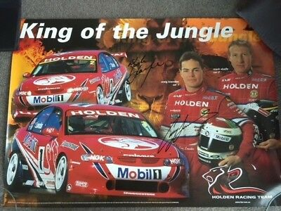 Holden Racing Team Craig Lowndes/mark Skaife Signed Poster(King Of The Jungle)
