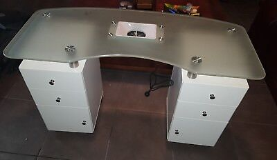 Nail Table With Dust Extractor - Double Cabinet - Plus Accessories