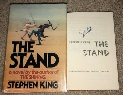 Stephen King Signed The Stand Hardcover Book Bce Shining It Mr Mercedes Rare