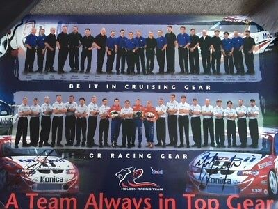 Holden Racing Team Poster Signed By Craig Lowndes And Mark Skaife