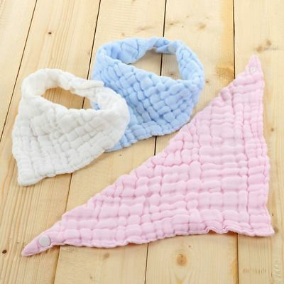 Breathable Absorbent Soft Triangle Scarf Saliva Towel Baby Bib Burp Cloths