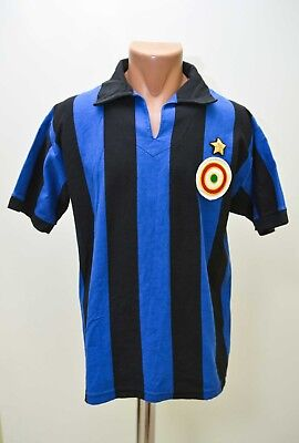 Inter Milan Italy 1960`s Home Football Shirt Jersey Toffs M Adult Retro Replica