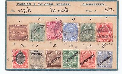 MALTA OVERPTINTS AND OLD STAMPS MINT and USED