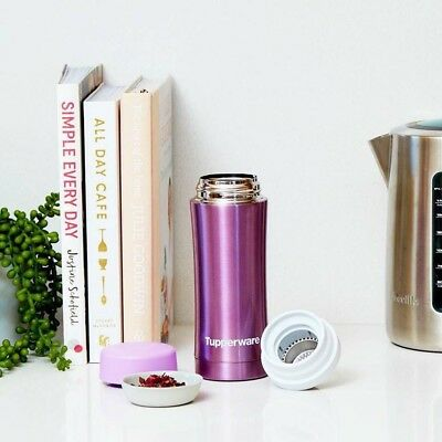 Tupperware Thermal flask-Daisy/Purple