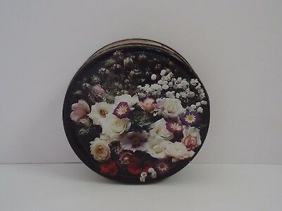 T13159 Beautiful Flowered Empty Biscuit Tin 400g 1996 ?
