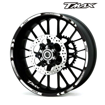 "For YAMAHA TMAX 500 530 15"" CUSTOM OUTER RIM STRIPES WHEEL DECALS TAPE STICKERS"