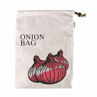 NEW AVANTI COTTON ONION BAG Sack Drawstring Zip Zipper Washable 38 x 27.5CM