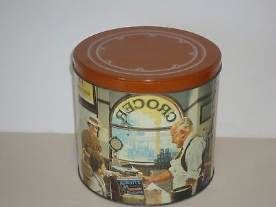 T15123 Empty Arnott's 1988 The Grocer  Biscuit Tin 700G