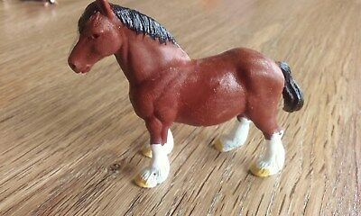BRITAINS LTD 1970 gemarkt Pferd Horse Kaltblüter Cold Blood Bauernhof DETAIL RAR