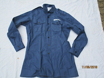 Shirt Mens Working Dress,Royal Navy,Cotton FR,Blue Shirt,Size 38/40 ,# 7,K