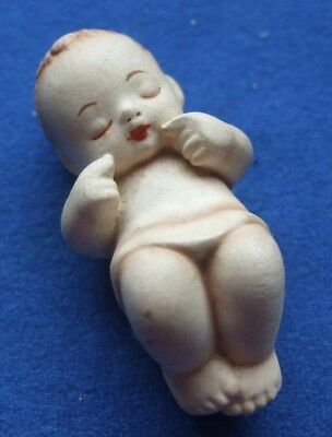 Vintage German Bisque Baby Doll. 7810. Doll House Doll. Pre-owned.