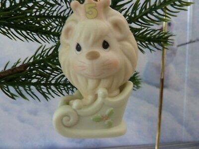 Precious Moments Ornament - Lion - Age 5 - Christmas Is Something To Roar About