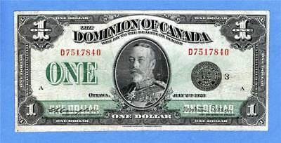 1923  $1 Dominion of Canada, Black seal, Group 3, series D,(#2119)
