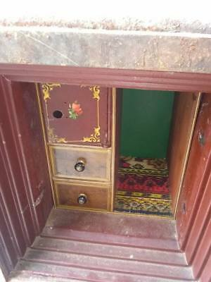 antique safe/with combination/on wheels