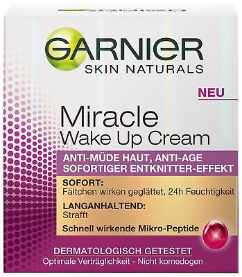 Garnier Miracle Wake Up Cream, Tagescreme, Anti-Müde Haut, 1er Pack (1 x 50 ml)