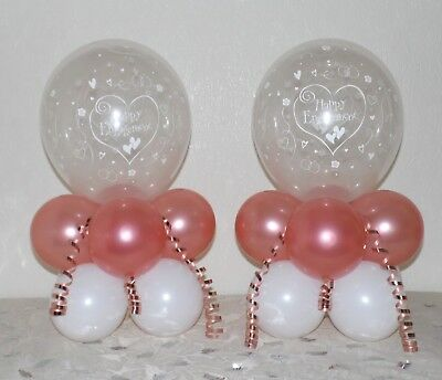 ENGAGEMENT - Rose Gold - 2 / 6 or 12 Pack -Table Balloon Decoration Display Kit
