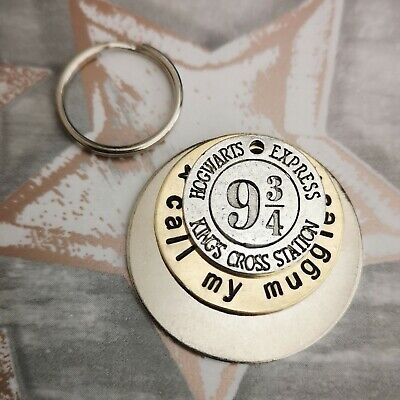Call my muggles Harry Potter inspired handmade stamped pet dog tags PoshTags