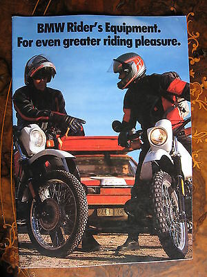 BMW Equipment Brochure  1987 20 Pages