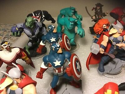 Large Lot Of Disney  And Marvel Video Game Figurines