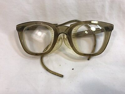 Vintage Sellstrom Horn Rim Safety Glasses Side Vent Shield Steampunk Goggles