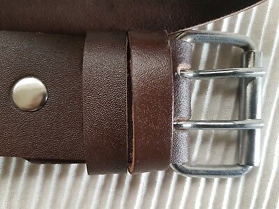 """New Scaffolding Heavy Duty 2"""" BROWN Leather Professional Quality Tools Belt"""