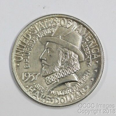 1937 Roanoke Half Dollar, Fresh Coins from a Local Estate