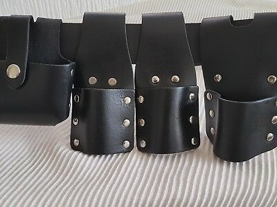 Scaffold Leather Tool Belt Heavy Duty BBI 4 Pockets/ Pouches / Frog /Holder sale