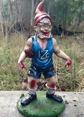 "NEW Large Resin Zombie Garden Gnome - ""Knucklehead Nudge"" Horror Football Gift"