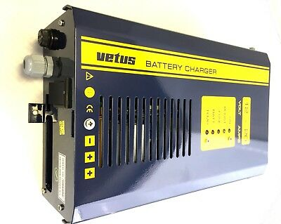 3 Way Marine Battery Charger 2 OUTLETS Brand New VETUS 12V 20A
