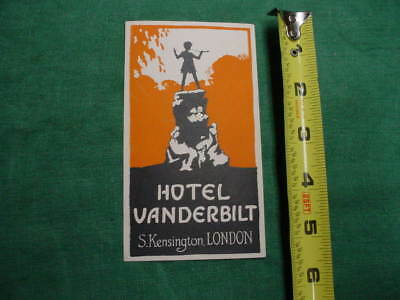 Early 20Th Century Luggage Label 4 Steamer Trunk  Hotel Vanderbilt London