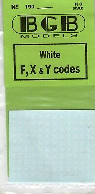 F X Y white letters for freight vehicles  MAY MODELLING MAYHEM.1 week only #20