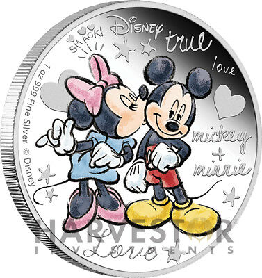 2015 Disney Crazy In Love - Mickey & Minnie 1 Oz. Silver Coin - First In Series