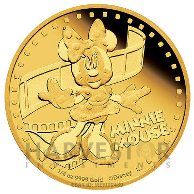 Disney - Minnie Mouse - Mickey And Friends - 1/4 Oz. Gold Proof - With Ogp & Coa