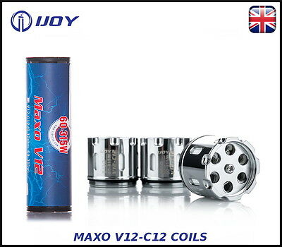 100% Authentic IJOY MAXO V12-C12 Coils (0.12ohm 60-315W) - 3 PACK