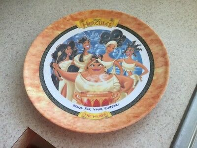 Vintage 1997 McDonald's Disney Hercules Plate THE MUSES Free Shipping