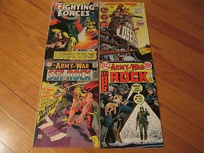 Dc Our Army At War # 171 255 Our Fighting Forces 94+1 4 Silver Age War Comic Lot
